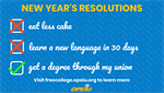 START THE NEW YEAR RIGHT WITH A RESOLUTION  YOU CAN ACTUALLY KEEP!